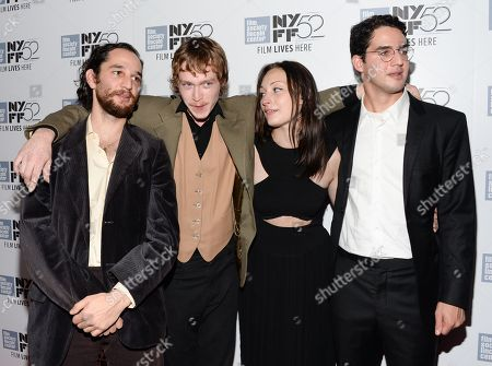"Stock Photo of Co-director Joshua Safdie, actor Caleb Landry Jones, actress Arielle Holmes and co-director Ben Safdie attend the ""Heaven Know What"" screening during the 52nd Annual New York Film Festival at Alice Tully Hall, in New York"