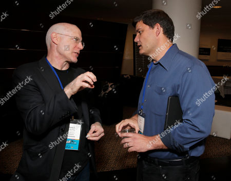 Joshua Astrachan, left, and Jason Constantine are seen at the 2014 Produced By Conference - Day 1 at Warner Bros. Studios, in Burbank, Calif