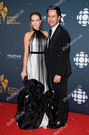 Jennifer Finnigan and Jonathan Silverman arrive at the Canadian Screen Awards, in Toronto, Canada