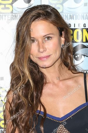 "Rhona Mitra attends the ""The Last Ship"" press line on day 1 of Comic-Con International, in San Diego"