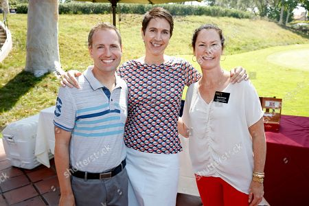 Television Academy President Maury Mcintyre, CFO Heather Cochran, SVP Media and Brand Management Susan Spencer is seen at the 16th Emmys Golf Classic presented by the Television Academy Foundation at the Wilshire Country Club on in Los Angeles