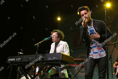 Stock Image of Ian Axel, left, and Chad Vaccarino of A Great Big World perform at the Fresh 102.7 Fall Fest at the Theater at Madison Square Garden, in New York
