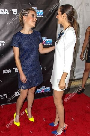 Tina Majorino, left, and Alyson Stoner attend the 2015 Industry Dance Awards at the Avalon on in Los Angeles