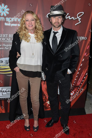 Virginia Madsen left and Nick Holmes right seen at Palm Springs International Film Festival Opening night screening of SELMA at Palm Springs High School on Friday, January 2nd, 2015, in Palm Springs, California