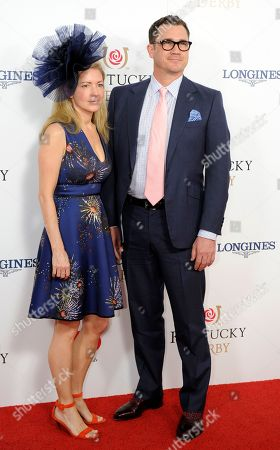 Kathryn Stockett (left) and Tate Taylor arrive on the red carpet at the 2015 Kentucky Derby on at Churchill Downs in Louisville, Ky