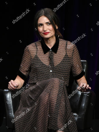"""Karolina Wydra participates in the """"Wicked City"""" panel at the Disney/ABC Summer TCA Tour at the Beverly Hilton Hotel, in Beverly Hills, Calif"""