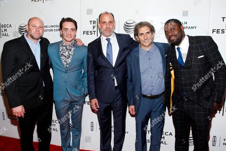"Domenick Lombardozzi, from left, Vincent Piazza, Nick Sandow, Michael Imperioli and Doug E. Doug attend the Tribeca Film Festival world premiere of ""The Wannabe"", in New York"