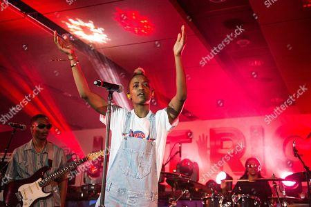 Stock Image of Syd tha Kyd (aka Sydney Bennett) of The Internet seen at 2016 Essence Festival at the Mercedes-Benz Superdome, in New Orleans