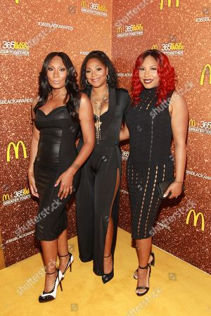 Stock Image of Reality television personalities Towanda Braxton left, Trina Braxton and Traci Braxton attend the 13th Annual McDonald's 365 Black Awards at the Ernest Moral Convention Friday, July 1,2016 in New Orleans, LA