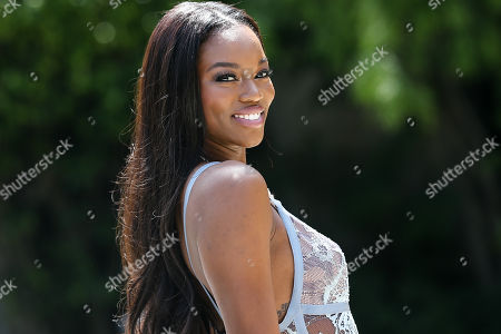 Stock Image of Eugena Washington, Playmate of the Year, at Playboy's 2016 Playmate of the Year Announcement held at the Playboy Mansion on in Los Angeles