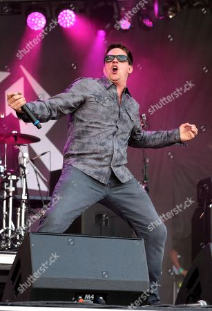 Stock Photo of Comedian Jim Breuer performs in concert during Day 1 of the Rock Allegiance Festival at Talen Energy Stadium, in Chester, Pa