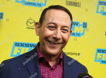 "Paul Reubens attends the world premiere of ""Pee-wee's Big Holiday"" during the South by Southwest Film Festival, in Austin, Texas"