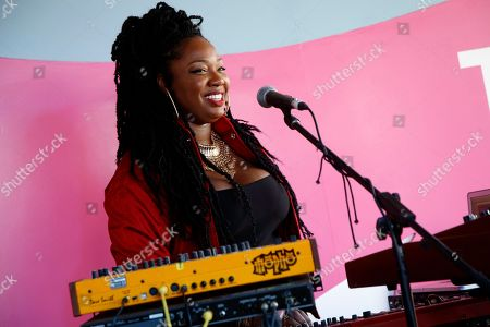 Stock Picture of Anita Bias, Paris Strother, and Amber Strother (L-R) of King performs at the Spotify House at South by Southwest Music Festival, in Austin, TX