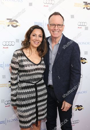 Lucia Gervino,Television Academy Honors Chair, left, and Jonathan Murray arrive at the 2016 Television Academy Honors at The Montage Hotel, in Beverly Hills, Calif
