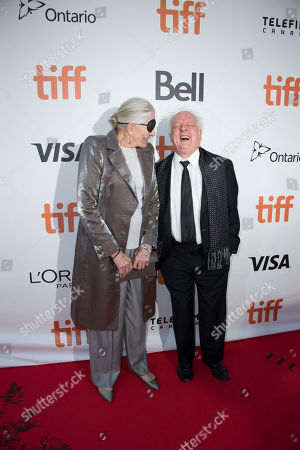 """Actress Vanessa Redgrave, left, and director Jim Sheridan attend the premiere for """"The Secret Scripture"""" on day 8 of the Toronto International Film Festival at Roy Thomson Hall, in Toronto"""