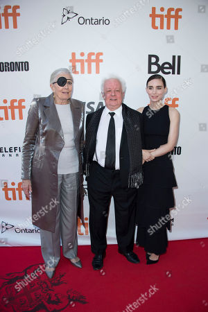 """From left, actress Vanessa Redgrave, director Jim Sheridan and actress Rooney Mara attend the premiere for """"The Secret Scripture"""" on day 8 of the Toronto International Film Festival at Roy Thomson Hall, in Toronto"""