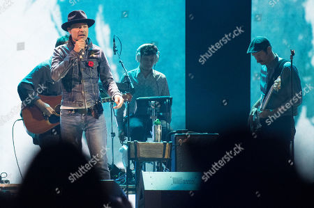 Stock Photo of Gord Downie seen on stage at WE Day, in Toronto