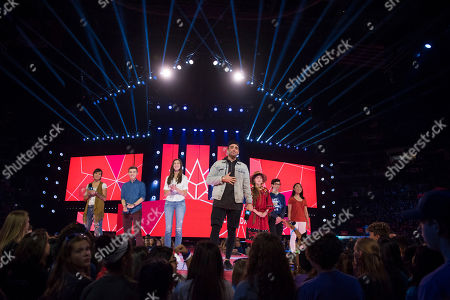 Stock Picture of Jacob Hoggard seen on stage at WE Day, in Toronto