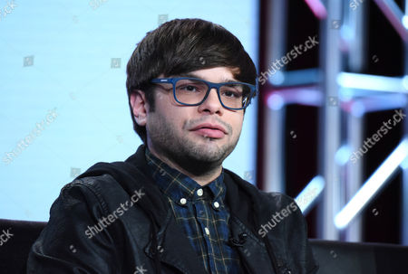 """Charlie Saxton participates in a panel for """"Cooper Barrett's Guide to Surviving Life"""" at the Fox Winter TCA, Pasadena, Calif"""