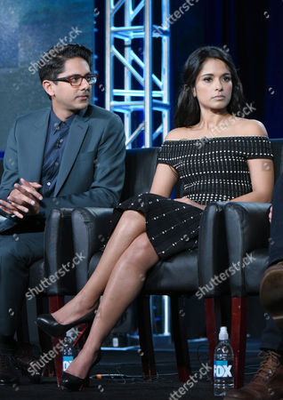 "Adhir Kalyan, left, and Dilshad Vadsaria participate in the ""Second Chance"" panel at the Fox Winter TCA, Pasadena, Calif"