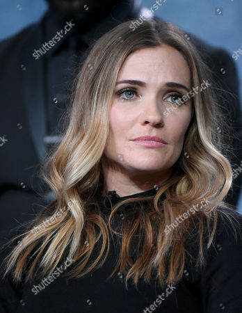 """Bre Blair participates in the """"Game of Silence"""" panel at the NBCUniversal Winter TCA, Pasadena, Calif"""