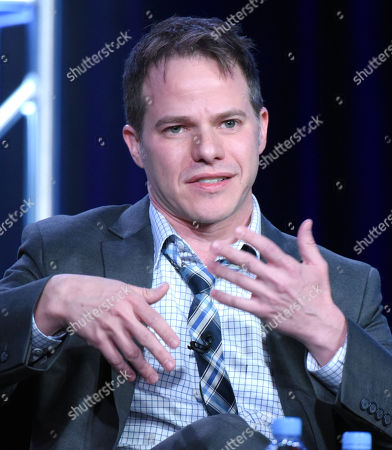 """Executive producer Justin Spitzer participates in the """"Superstore"""" panel at the NBCUniversal Winter TCA, Pasadena, Calif"""