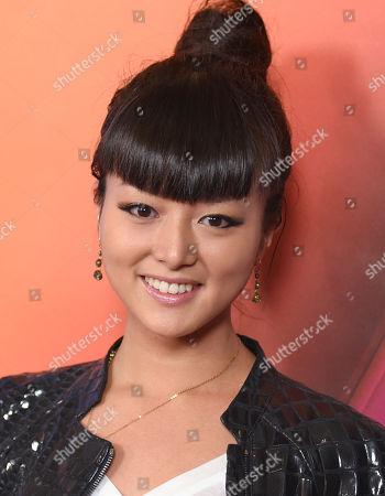 Kiki Sukezane arrives at the NBCUniversal Winter TCA at the Langham Huntington Hotel & Spa, in Pasadena, Calif