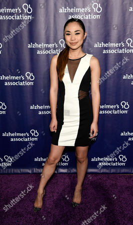 """Jessica Sanchez poses at the 23rd Annual """"A Night at Sardi's"""" event to benefit the Alzheimer's Association, at the Beverly Hilton Hotel, in Beverly Hills, Calif"""