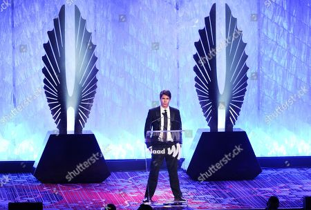 Stock Image of GLAAD president Herndon Graddick speaks at the 24th Annual GLAAD Media Awards at the Marriott Marquis on in New York