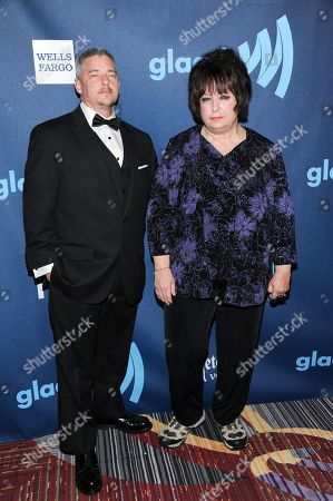 "Stock Picture of Nominees Joan Koplan, right, and Dennis Croft from the television show ""Small Town Security"" attend the 24th Annual GLAAD Media Awards at the Marriott Marquis on in New York"
