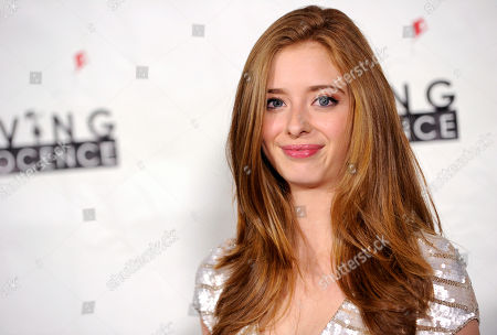 Actress Ashlyn Pearce poses at the 2nd Annual Saving Innocence Gala, in Los Angeles