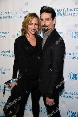 Kristin Richardson, left, and Kevin Richardson arrive at the 2nd annual Hollywood Heals: Spotlight on Tourette Syndrome at the House of Blues, in West Hollywood, Calif