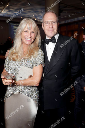 Martha De Laurentiis and Toby Emmerich, American Cinematheque Board Member and President and COO, New Line Cinema, seen at 30th Annual American Cinematheque Award Honoring Ridley Scott at The Beverly Hilton, in Beverly Hills, CA
