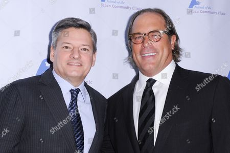 Ted Sarandos, left, and Steve Mosko attends the 39th Annual Dinner Gala to Honor Steve Mosko held at the Beverly Hilton Hotel, in Beverly Hills, Calif