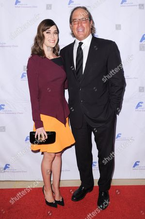 Actress Lizzy Caplan, left, and Steve Mosko attends the 39th Annual Dinner Gala to Honor Steve Mosko held at the Beverly Hilton Hotel, in Beverly Hills, Calif