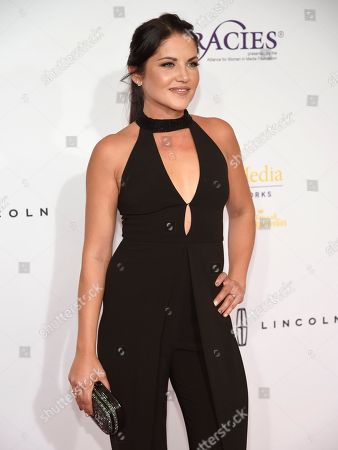 Marika Dominczyk arrives at the 41st annual Gracie Awards Gala at the Beverly Wilshire Hotel, in Beverly Hills, Calif