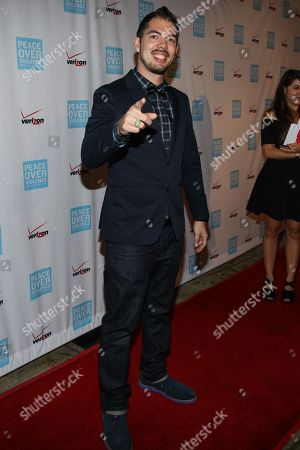 Salvador Santana arrives at the 42nd Annual Humanitarian Awards at The Beverly Hills Hotel on in Beverly Hills, Calif