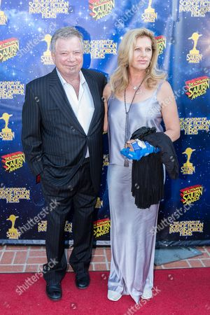 William Shatner, left, and Elizabeth Shatner arrive at The 42nd Annual Saturn Awards at the Castaway on Wednesday, June 22, in Burbank, Calif