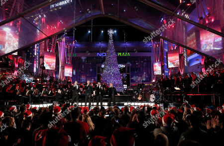 Editorial photo of 5th Annual Holiday Tree Lighting at L.A. LIVE, Los Angeles, USA - 28 Nov 2012