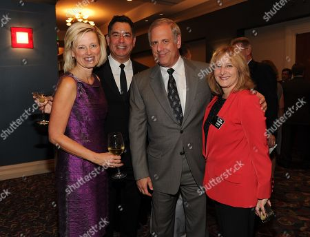 OCTOBER 24: (L-R) President and General Manager, Entertainment and Commercial Films Kim Snyder, Engineering Awards Committee Member Co-Chairs Geoff Katz and Kevin Hamburger and Academy Treasurer Susan Nessanbaum-Goldberg attend the Academy of Television Arts & Sciences 64th Primetime Emmy Engineering Awards at the Loews Hollywood Hotel on in Hollywood, California