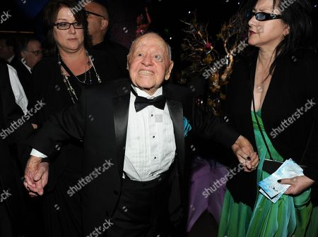 Center, Mickey Rooney is seen at the Governors Ball after the 65th Primetime Emmy Awards at Nokia Theatre, in Los Angeles