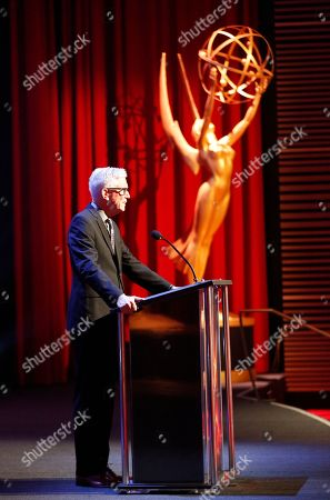 Fritz Coleman presents the award for sport tease at the L.A. Area Emmy Awards presented at the Television Academy's new Saban Media Center, in the NoHo Arts District in Los Angeles