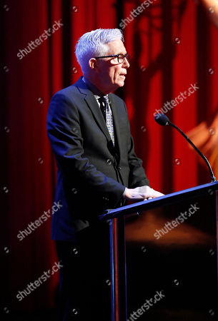 Fritz Coleman presents the award for sport tease at the L.A. Area Emmy Awards presented at the Television Academyâ?™s new Saban Media Center, in the NoHo Arts District in Los Angeles