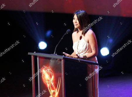 Cher Calvin presents the award for education at the L.A. Area Emmy Awards presented at the Television Academyâ?™s new Saban Media Center, in the NoHo Arts District in Los Angeles