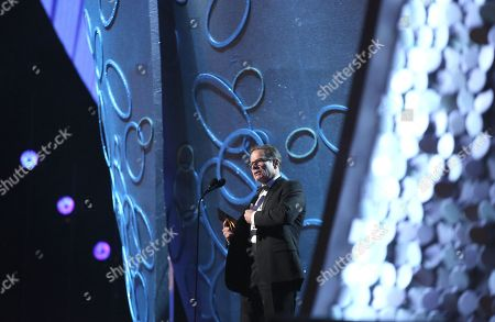 Peter Scolari speaks at the 68th Primetime Emmy Awards, at the Microsoft Theater in Los Angeles