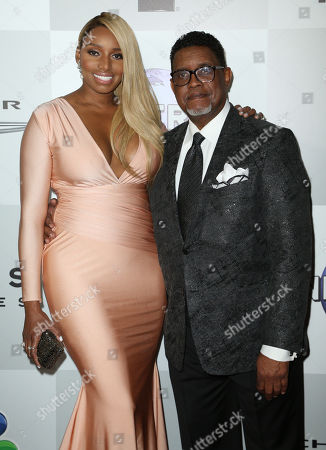 Stock Picture of NeNe Leakes and Gregg Leakes arrive at the NBCUniversal Golden Globes afterparty, at the Beverly Hilton Hotel in Beverly Hills, Calif