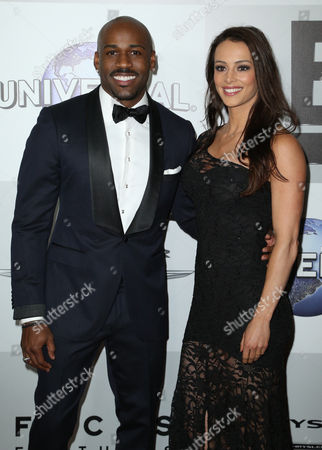 Dolvett Quince and guest arrive at the NBCUniversal Golden Globes afterparty, at the Beverly Hilton Hotel in Beverly Hills, Calif