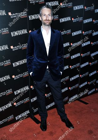 Michael Wilkinson arrives at the 7th Annual Hamilton Behind the Camera Awards at The Ebell Theatre on in Los Angeles