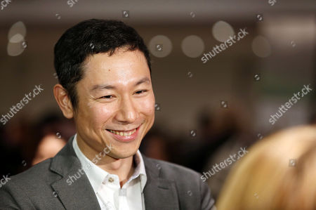 Yoshiaki Nishimura arrives at 87th Academy Awards - Animated Features at Samuel Goldwyn Theater, in Beverly Hills, Calif