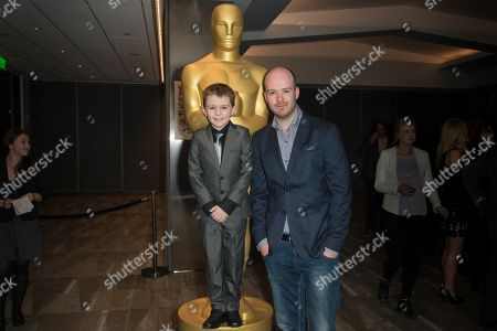 """Stock Picture of Riley Hamilton, left, and Michael Lennox arrive at the 87th Academy Awards - """"Shorts"""" at the Samuel Goldwyn Theater on in Beverly Hills, Calif"""